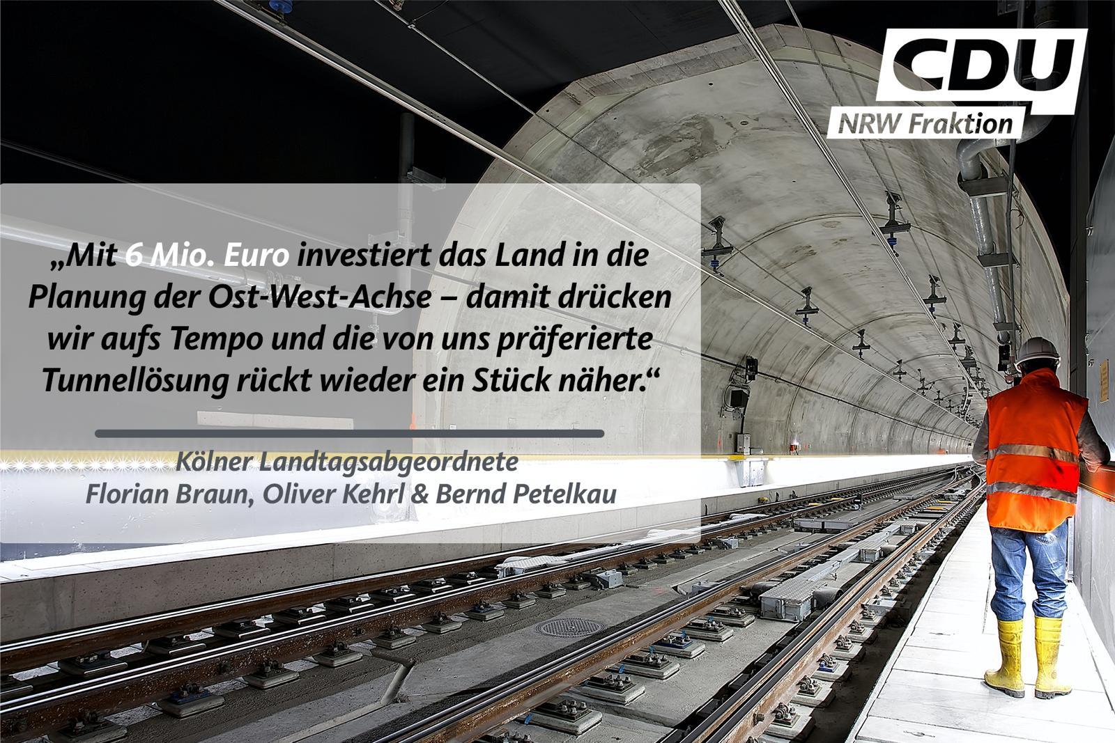 """""""Über 6 Millionen Landesmittel für die Planung der Ost-West-Achse"""""""